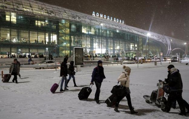 Пассажиры в Домодедово