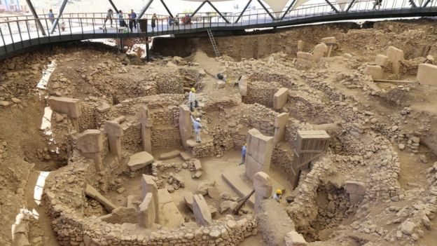 Vista del yacimiento arqueológico Göbekli Tepe