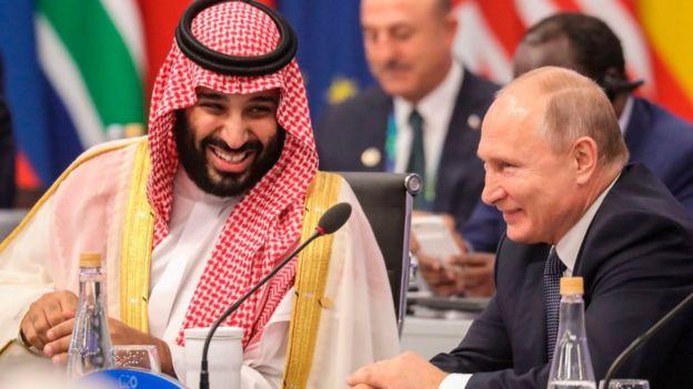 Mohammed bin Salman y Vladimir Putin