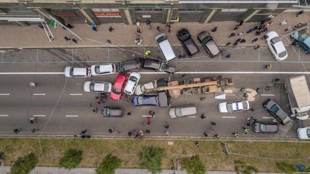 Масштабное ДТП в центре Киева: поврежден 21 автомобиль, водителю автокрана грозит уголовная ответственность, - полиция - Цензор.НЕТ 4431