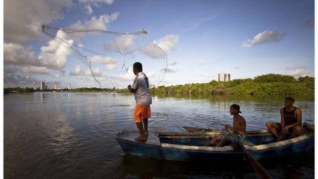 Pescador no Recife