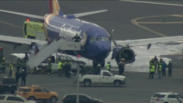 Самолет в аэропорту Филадельфии