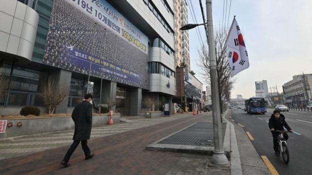 Đường phố Daegu ngày 21/2 đã rất vắng