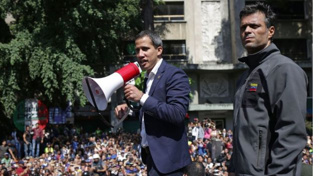 Juan Guaidó y Leopoldo López