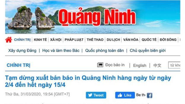 Báo Quảng Ninh tạm ngưng xuất bản báo in do ảnh hưởng dịch Covid-19