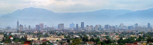 Una vista general de Ciudad de México