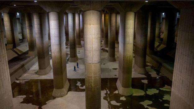 كاتيدرائية تحت الأرض تحمي طوكيو من الفيضانات