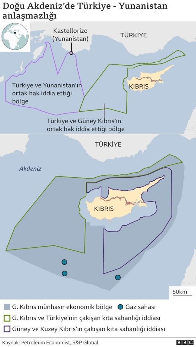 Doğu Akdeniz'de Türkiye-Yunanistan anlaşmazlığı