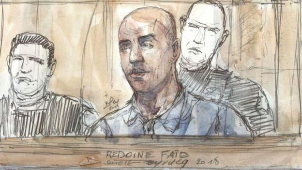 Faid có liên quan đến vụ trộm không thành làm một nữ cảnh sát thiệt mạng năm 2010.