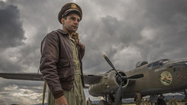 Christopher Abbott plays Yossarian, who is desperate to escape his bomber squadron