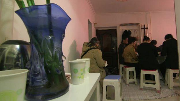 Inside a home church in Beijing