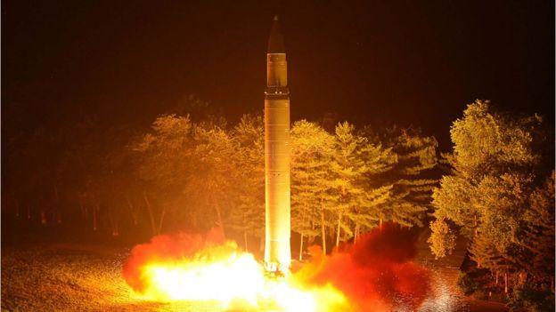 Míssil é lançado na Coreia do Norte