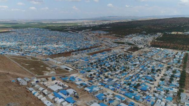 Лагерь беженцев в Идлибе