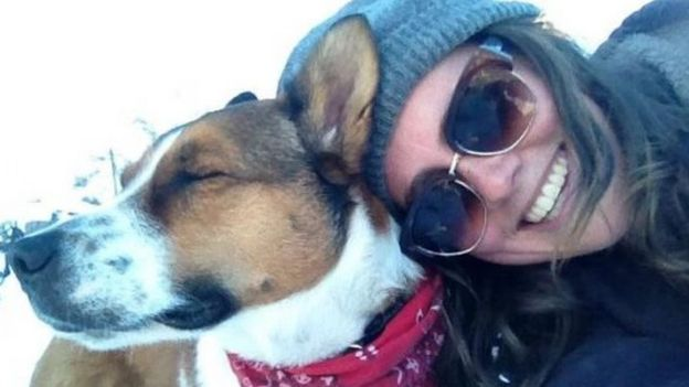 Connelly and her dog Mogie