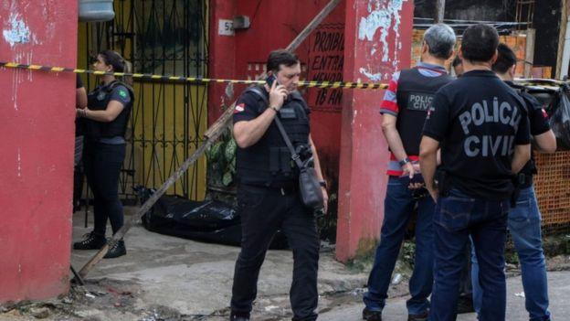 Bar onde ocorreu tiroteio em Belém do Pará, em 16 de maio