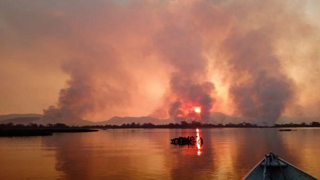 Fumaça no Pantanal