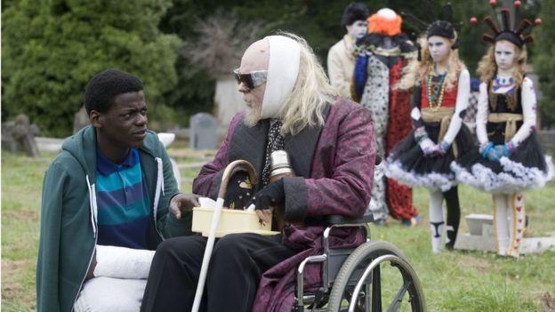 Daniel Kaluuya acting in BBC drama Psychoville.