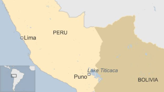 Peru investigates of 10,000 Titicaca water frogs - BBC News on