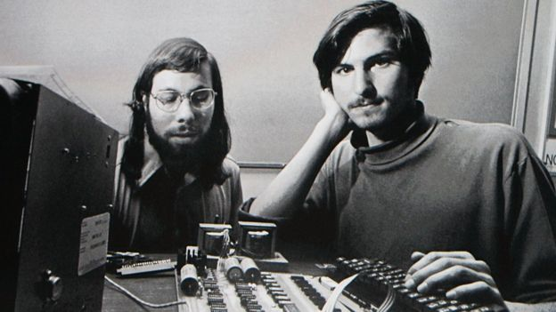 Steve Wozniak y Steve Jobs.