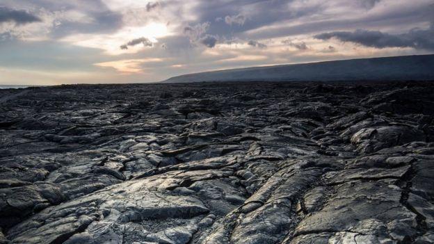 Roca de lava en hawaii