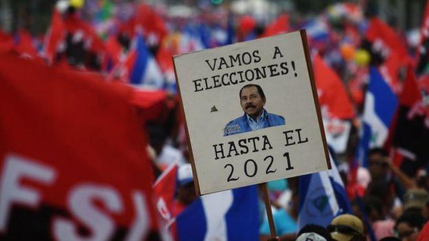 Marcha a favor de Ortega