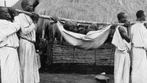 Infectado pela doença do sono na África