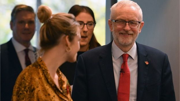 Jeremy Corbyn visited Harlow in Essex - a target seat for Labour - on Tuesday