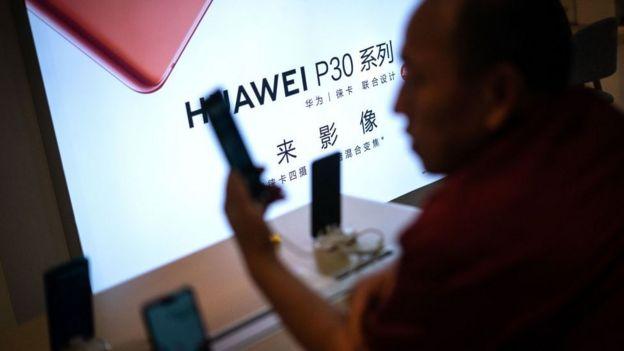 Teléfonos Huawei.