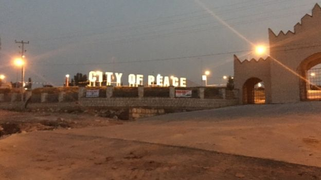 Sign saying City of Peace