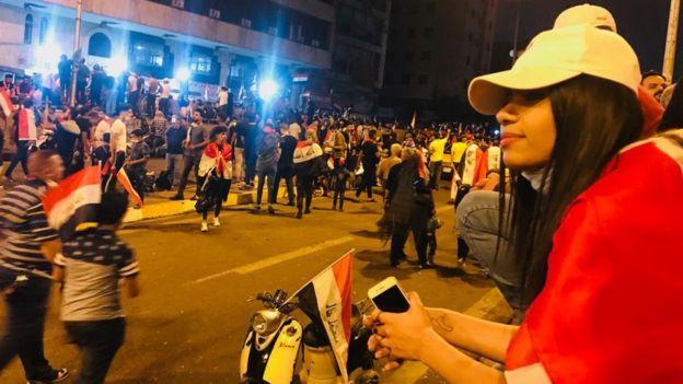 سارة في ساحة التحرير