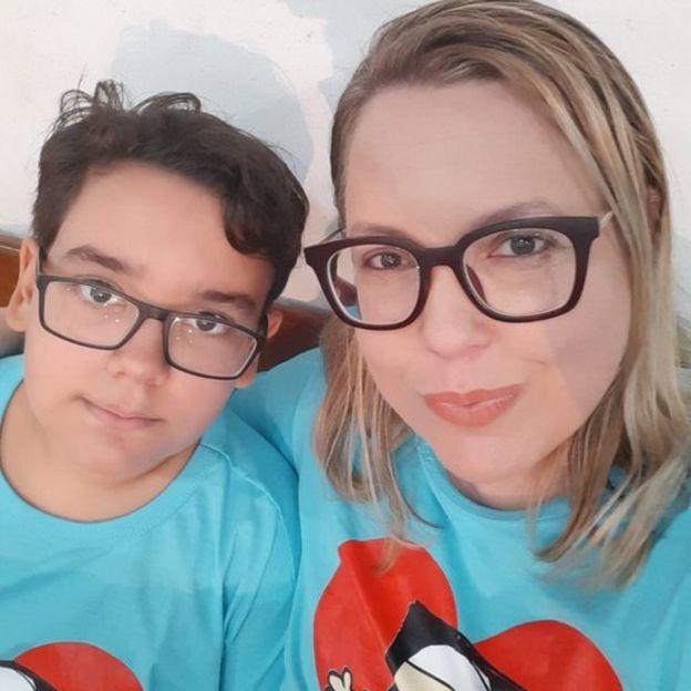 Milena e seu filho