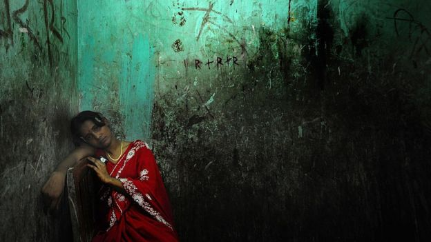 Prostitute in Bangladesh.