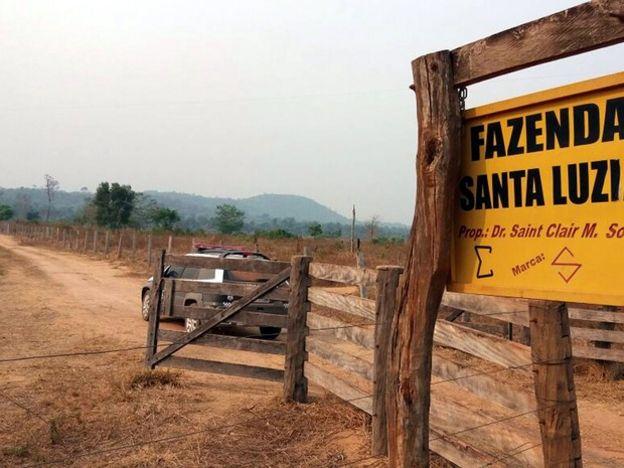 A fazenda da família onde o crime ocorreu