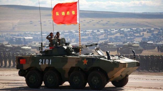 Tropas chinas tomaron parte en los ejercicios militares Vostok, organizados por Rusia.