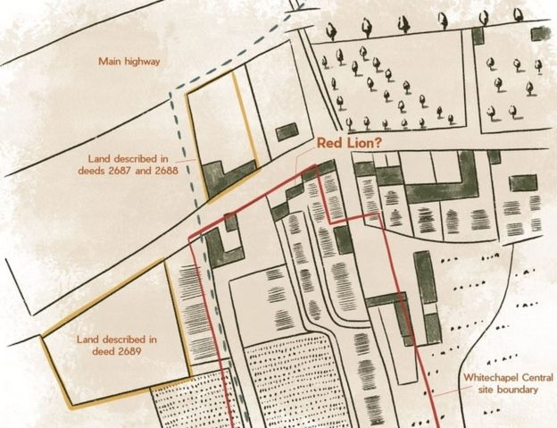 Map of site