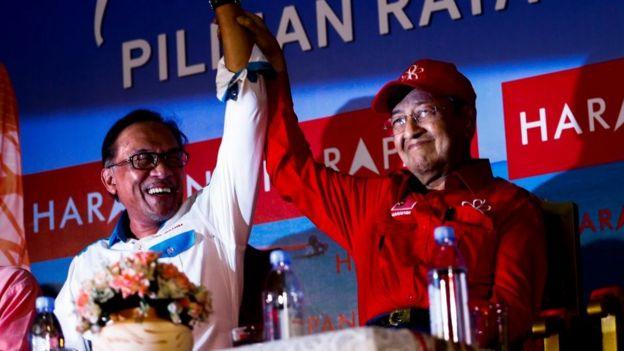 Mahathir Mohammad and Anwar Ibrahim