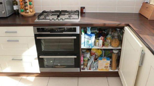 La estufa de la casa de Emilie Cilliers