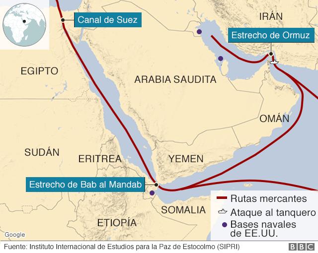 Estrecho De Ormuz Mapa.Reino Unido Denuncia Que Iran Intento Interceptar Un