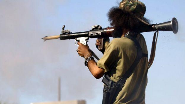 لیبیا میں ایک جنگجو