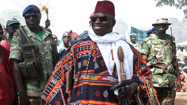 Gambia's Yahya Jammeh pictured in 2014 when he was presidet