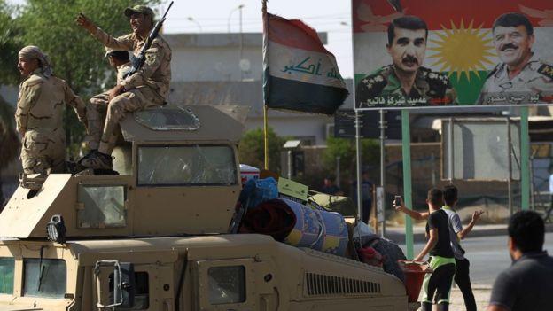 Kerkük'e giren Irak güçleri
