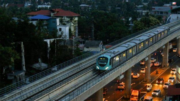 Prime Minister Narendra Modi launched the Kochi metro rail service.