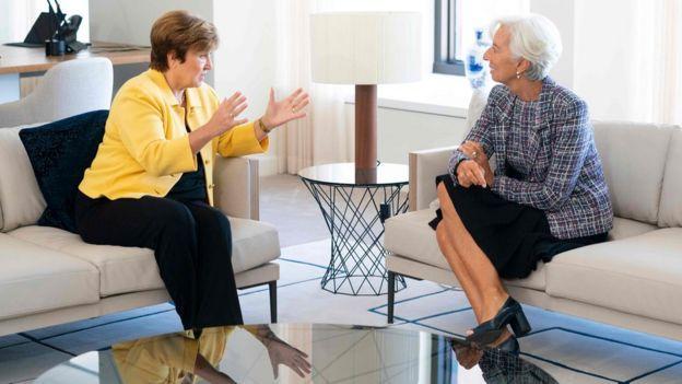 Kristalina Georgieva y Christine Lagarde