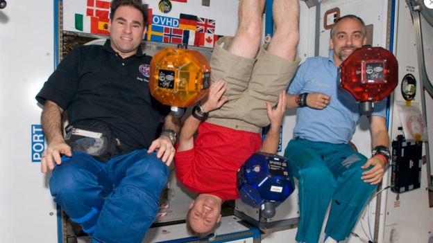 Richard Garriott en la Estación Espacial Internacional.