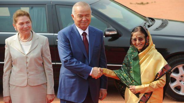 Ислам Каримов-старший с женой