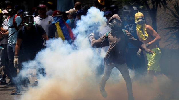 Clashes in Venezuela. Photo: 19 April 2017