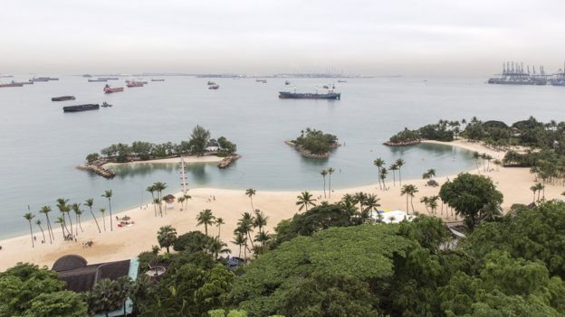 General view of Sentosa Island on June 2, 2018 in Singapore.