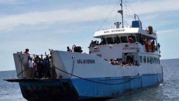 MV Nyerere wakati ilipokuwa ikifanya kazi