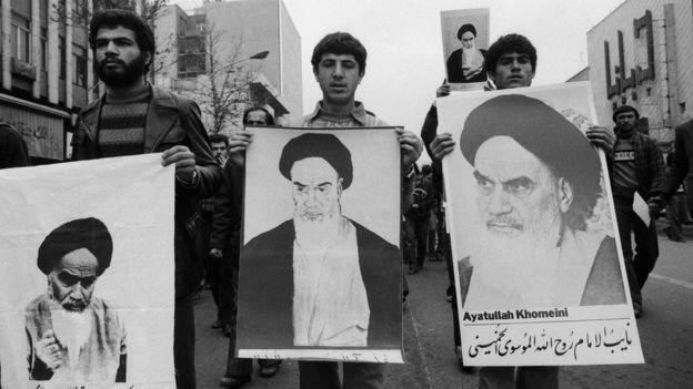 İran'da 1978 yılında Humeyni taraftarlarının düzenlediği bir eylem