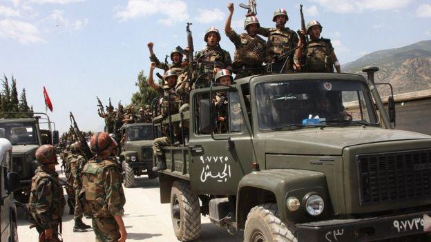 Fuerzas del gobierno sirio